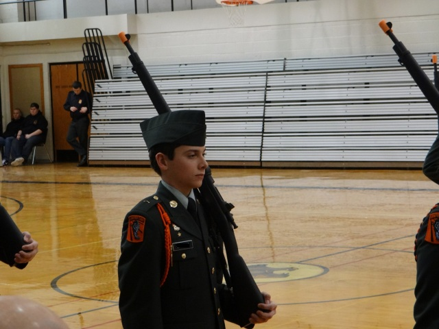 Griffin at drill competition February 2013