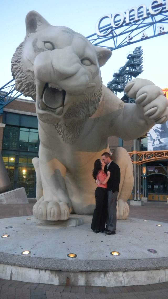 November 2012...20th Anniversary in front of Comerica Park