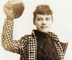 Nellie Bly in her traveling outfit